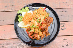Stir-fried Soft-shelled Crab in Curry Powder Stock Image
