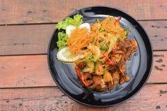 Stir-fried Soft-shelled Crab in Curry Powder Stock Photos