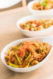 Stir-fried Soft-shelled Crab in Curry Powder. On plate Royalty Free Stock Photos