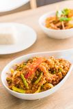 Stir-fried Soft-shelled Crab in Curry Powder. On plate Royalty Free Stock Photo