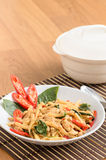 Stir fried spicy chicken with bamboo shoots Stock Photography