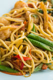 Stir fried spicy spaghetti. With seafood Royalty Free Stock Images