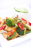 Stir Fried Spicy Thai Herbs With Jasmine Rice. Stock Images