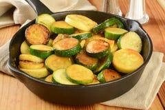 Stir fried squash Stock Photo
