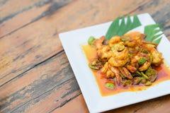 Stir-fried stink bean with shrimp. Stock Photography