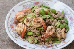 Stir fried stink bean with shrimp Stock Photography