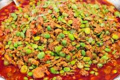 Stir fried Stink Beans with Shrimp Stock Image