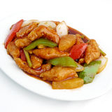 Stir fried sweet and sour pork Royalty Free Stock Photos