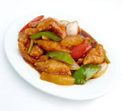 Stir fried sweet and sour pork Royalty Free Stock Image