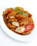 Stir fried sweet and sour pork Royalty Free Stock Photography