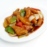 Stir fried sweet and sour pork Stock Image
