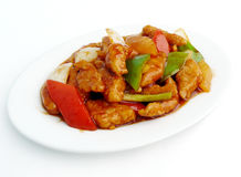 Stir fried sweet and sour pork Stock Photography