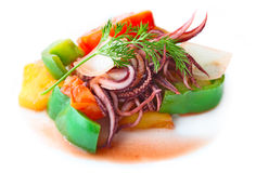Stir Fried Tentacle Squid Stock Image