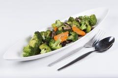 Stir fried Three vegetables (broccoli, mushroom, carrot) Stock Photo
