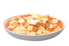Stir-fried tofu Royalty Free Stock Photography