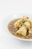 Stir Fried Tofu with pork Stock Photography