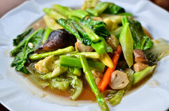 Stir fried variety of vegetables Stock Images