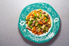 Stir-fried vegetables Stock Image