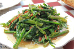 Stir-fried vegetables. In northern Thailand Royalty Free Stock Images