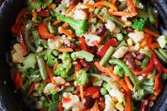 Stir-fried vegetables stock photo