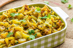Stir Fried Vegetables. Stir fried cauliflower and potatoes royalty free stock images