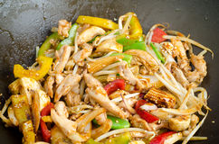 Stir-fried vegetables with chicken Royalty Free Stock Photo