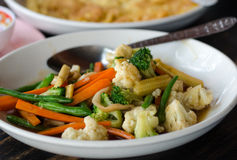 Stir fried vegetables. Close up stock images