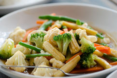 Stir fried vegetables. Close up royalty free stock images