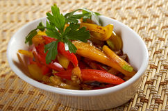 Stir Fried Vegetables roasted Royalty Free Stock Image