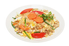 Stir fried vermicelli with beaten egg Stock Image