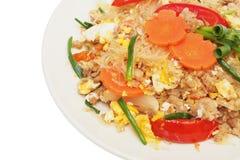 Stir fried vermicelli with beaten egg Stock Photos