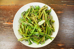 Stir Fried Water Spinach Royalty Free Stock Images