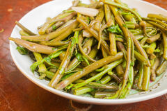 Stir Fried Water Spinach Royalty Free Stock Photography