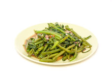 Stir fried water spinach Stock Photography