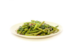 Stir fried water spinach Royalty Free Stock Image