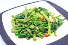 Thai pain food. Stir Fried Water Spinach Thai pain food Stock Photos