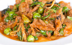 Stir Fried Wild Boar with Red Curry Royalty Free Stock Images