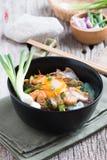 Stir fried yellow noodle mee pad hokkian phuket Stock Photography