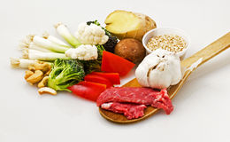 Stir Fry. This is an image of fresh ingredients for a stir fry stock image