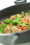 Stir fry. In a pan Royalty Free Stock Photos