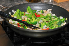 Stir fry Stock Images