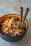 Stir fry, asian cuisine meal Royalty Free Stock Photography