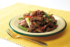 Stir fry beef Stock Photography