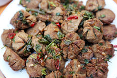 Stir fry beef balls Stock Image