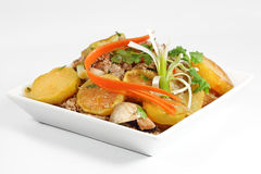 Stir Fry Beef and Potatoes Stock Photography