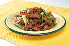 Stir-fry beef slices Stock Image