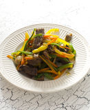 Stir Fry Beef. And Vegetables Stock Image