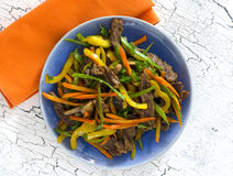 Stir Fry Beef. And Vegetables Royalty Free Stock Photography