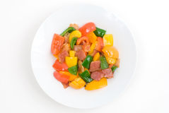 Stir fry Bell pepper Royalty Free Stock Images