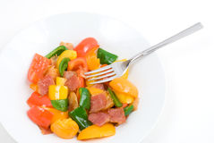 Stir fry Bell pepper Royalty Free Stock Photo
